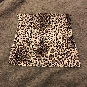 Cheetah/leopard tube top
